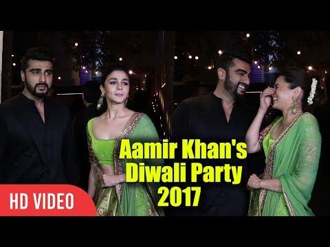 Alia Bhatt And Arjun Kapoor At Aamir Khan's Diwali Party 2017  Viralbollywood