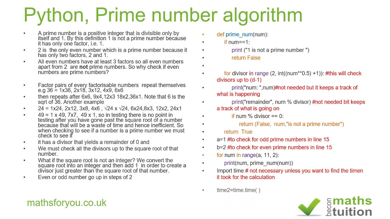 Prime number algorithm and python youtube prime number algorithm and python nvjuhfo Gallery
