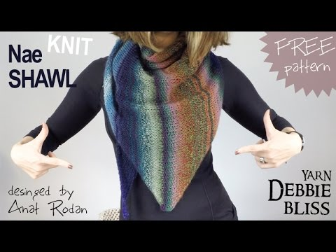 Free Pattern Knit Nae Shawl By Anat Rodan Debbie Bliss Yarn Fo
