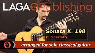 Sonata K.198 by D. Scarlatti - solo classical guitar arrangement by Emre Sabuncuoglu