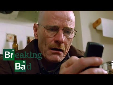 Walter White Frantically Collects the Product from Jesse Pinkman's House - Breaking Bad: S2 E11 Clip