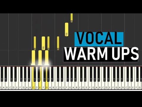 Vocal Warm Ups 5 Bass Range E2 E4 Major Scales By
