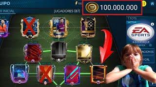 !!GASTAMOS 100 MILLONES DE MONEDAS EN FICHAJES!!(QUÍMICA A TOPE) PARTE 2 FIFA MOBILE 19