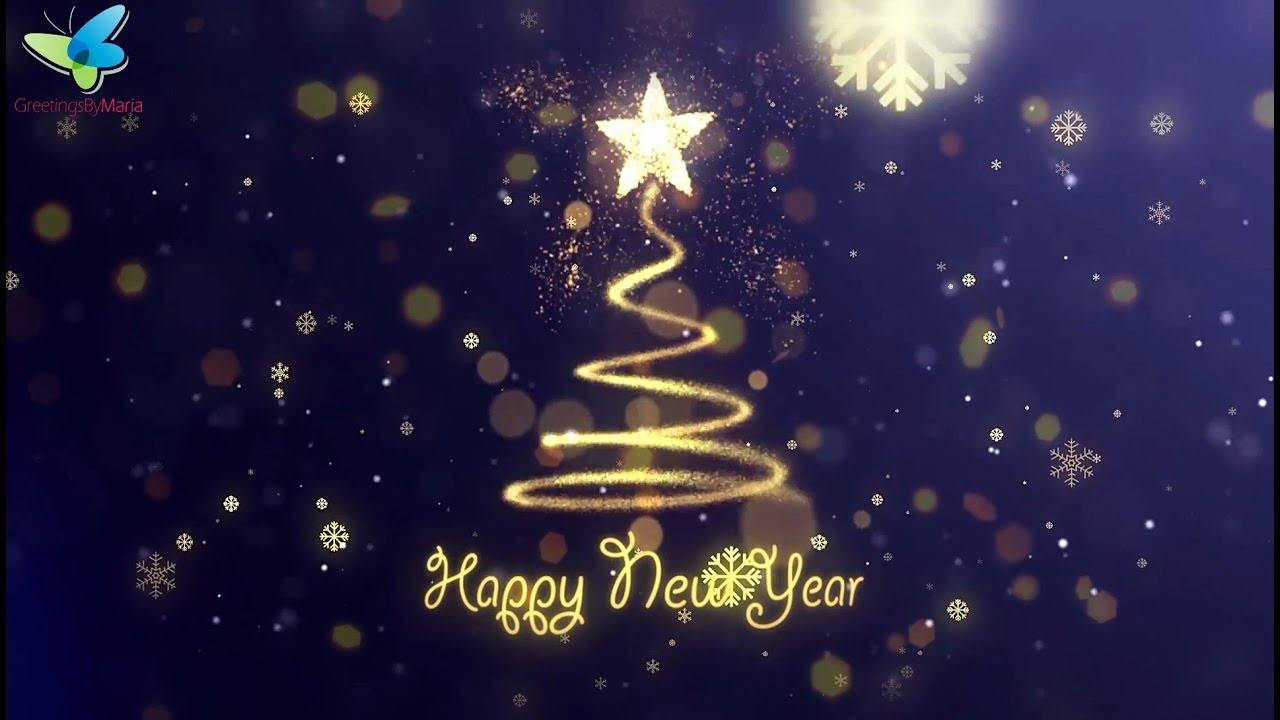 happy new year wishes beautiful new year greetings animation youtube