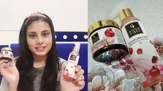 Good Vibes Pomegranate face wash and Scrub Review and demo    #3MINUTESTHURSDAY #SimplyBeautiful