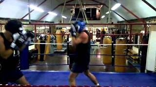 Jake and Andy Sparring - Boodles Boxing Ball 2011