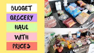MEAL PLAN & GROCERY SHOPPING ON A BUDGET || ALDI & TESCO