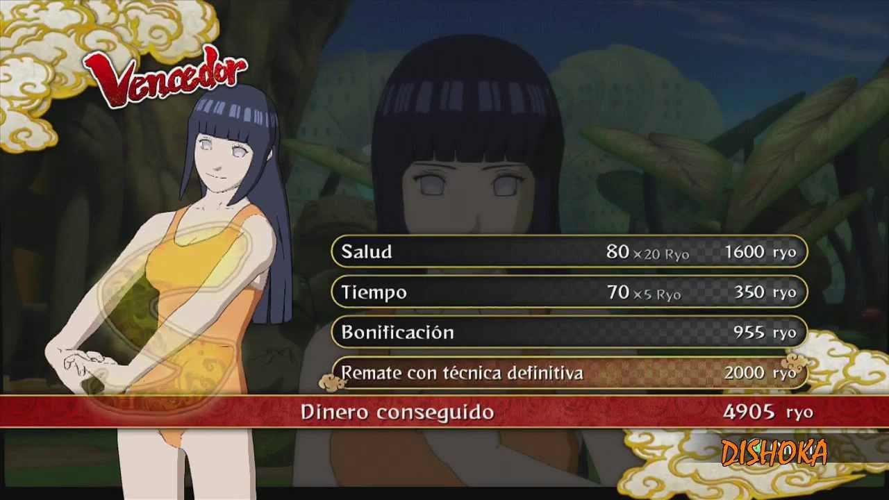 DLC TRAJE DE BAO Hinata Vs Naruto Naruto Shippuden