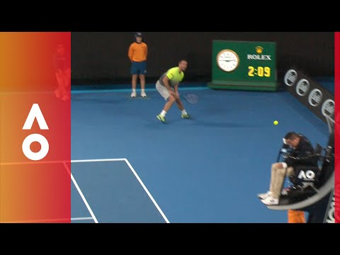 Umpire takes one in the head from Troicki | Australian Open 2018