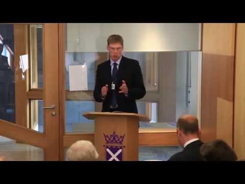 Ewen Stewart at the Scottish Parlament