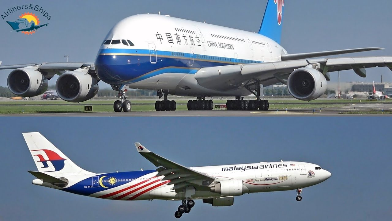 AMSTERDAM Schiphol Airport Planespotting September 2021 Part 1/2 with China Southern AIRBUS A380