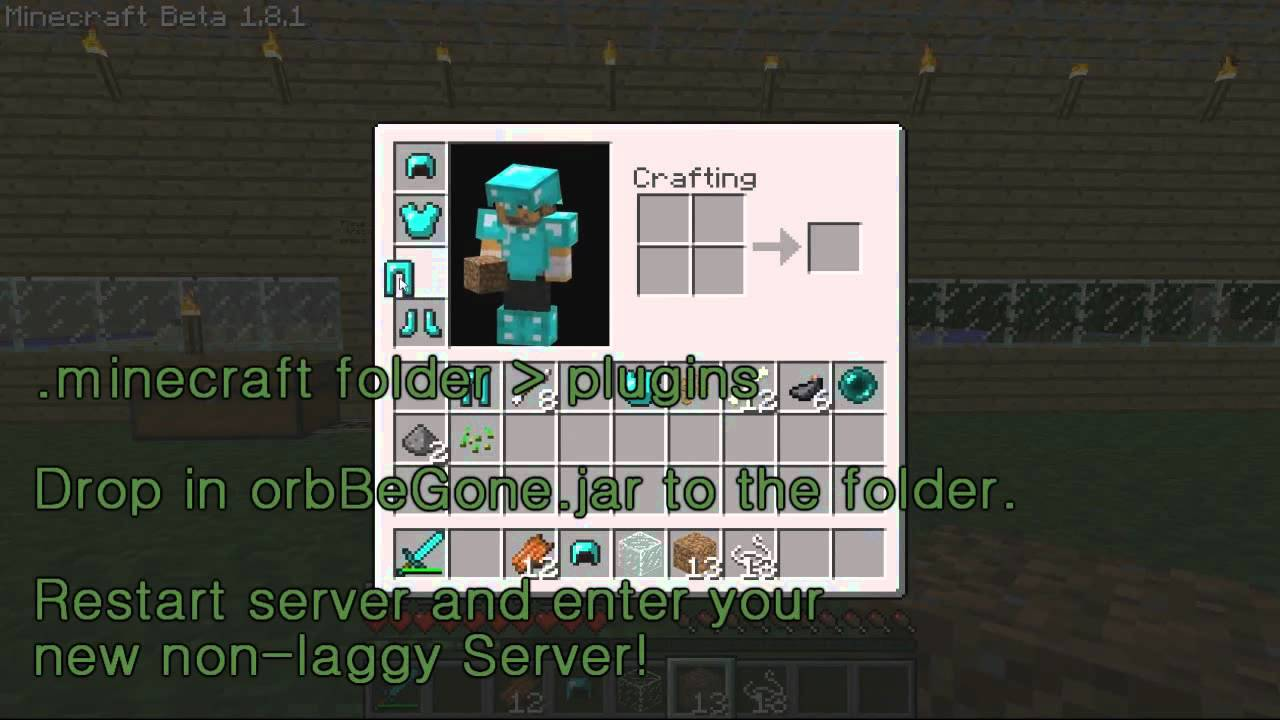 Minecraft 100.100.100 XP Orbs Removal Tutorial - YouTube