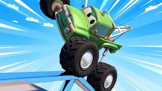 Monster trucks for children - Moe the Monster Truck Tries Stunts at the Skatepark  - Monster Town