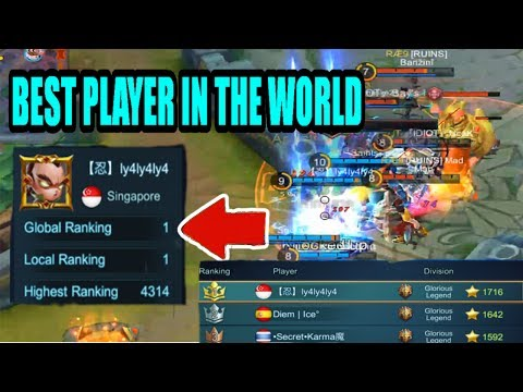 Mobile Legends: BEST PLAYER IN THE WORLD CHOU GAMEPLAY!! (No.1 Worldwide| Ly4Ly4Ly4Ly4)