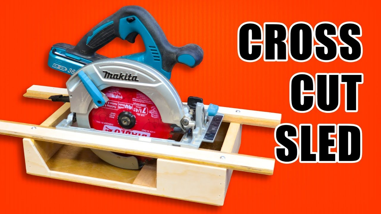 Portable Circular Saw Crosscut Sled Woodworking Jig Youtube