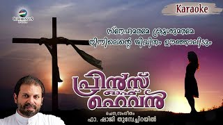 Snehamarame Karaoke | The Prince of Heaven | Hit Malayalam Christian Song | Fr Shaji Thumpechirayil