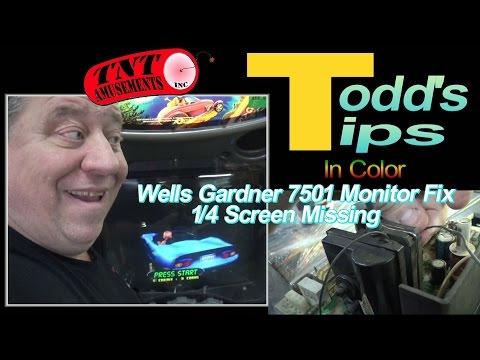 """Wells Gardner 19/"""" Color Monitor Manual Original"""