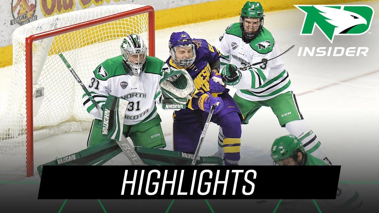 purchase cheap 9507e c4c5d North Dakota vs. Minnesota State   Highlights   UND Hockey   10/19/18