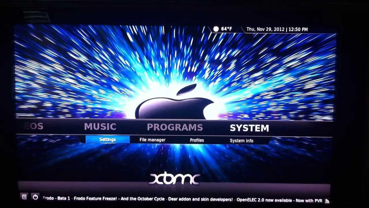 Apple tv 2 how to change xbmc kodi background and use - Kodi wallpaper ...
