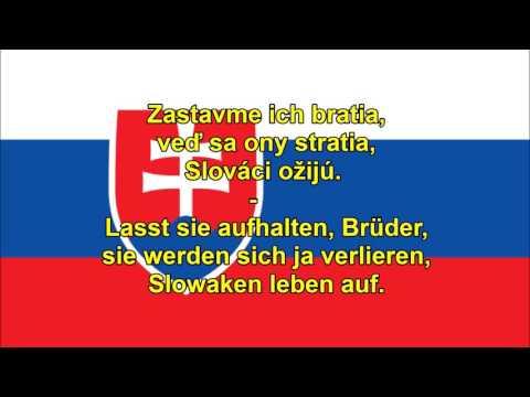 Nationalhymne der Slowakei - Štátna Hymna Slovenska (SVK/DE Text)