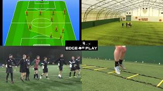 Cover images Soccer Coaching Combination Play Passing Diamond