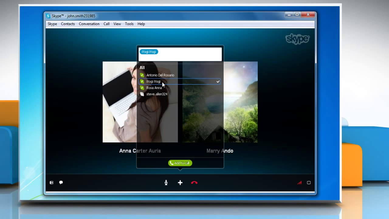 Add People To An Ongoing Group Call In Skype® For Windows