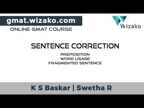 GMAT Sentence Correction Sample Question | Preposition