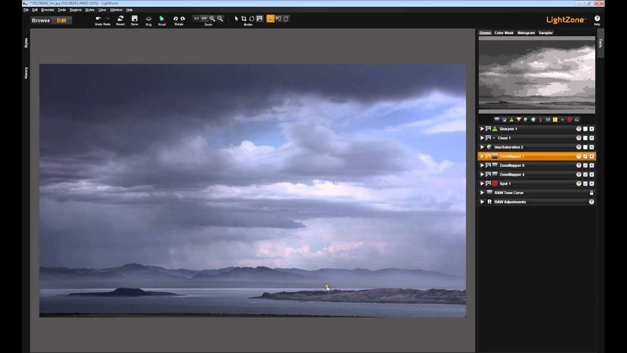LightZone Zonemapper Zonefinder, Part 6: Recap of an editing session using  Zonemappers