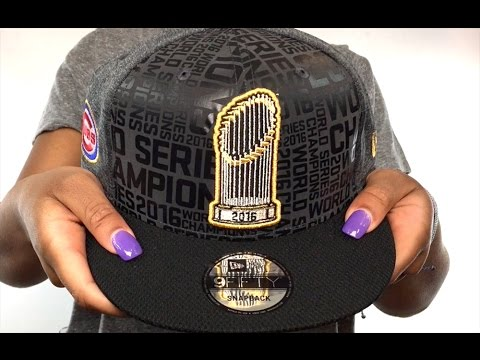 Cubs  2016 WORLD SERIES TROPHY SNAPBACK  Grey-Black Hat by New Era ... 6f7e16823d1c
