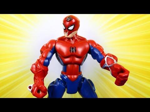 Spin Attack Spider-Man Figure / Человек-паук - Super Hero Mashers - Marvel - B0679
