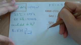 Ecuación general de los gases ideales o perfectos