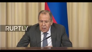 LIVE  Sergei Lavrov and Sigmar Gabriel hold joint press conference in Moscow