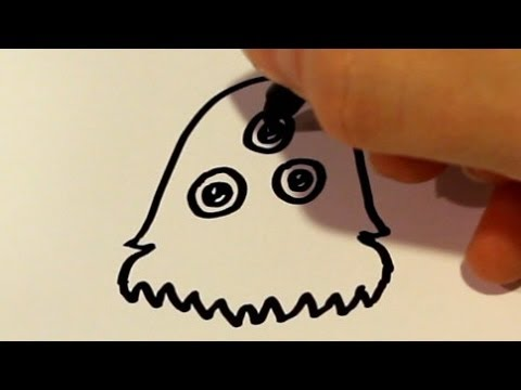 How To Draw A Cartoon Monster V3 Youtube