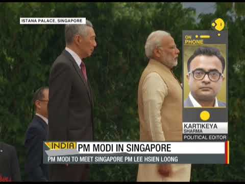 PM Narendra Modi arrives at Istana Palace in Singapore