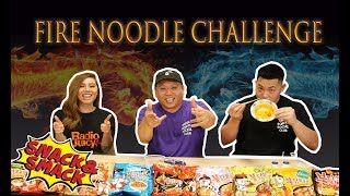 We try all 9 SAMYANG FIRE NOODLES and find our FAVORITE!!