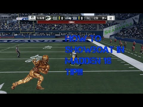 How To ShowBoat/Show off run in Madden 18 Tip!!! (Correct)