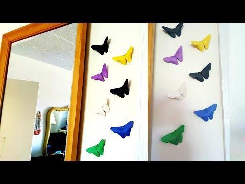 Manualidad como hacer mariposas de papel how to make - Como hacer mariposas de papel ...