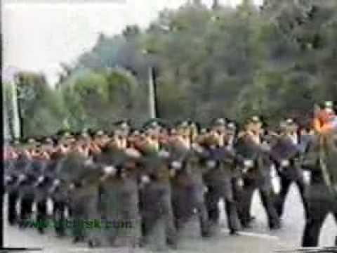 Kabardino - Balkaria Republic police parade in Nalchik