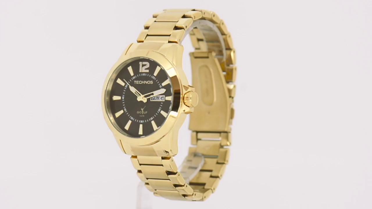 595cae88374 Relógio Technos Masculino Classic Golf 2305AQ 4M - Eclock - YouTube