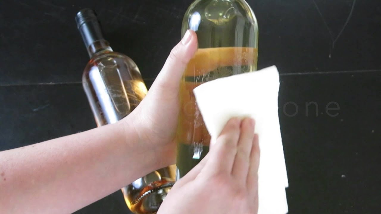 Wine Champagne Label Removal How To Remove Lushlabel Youtube