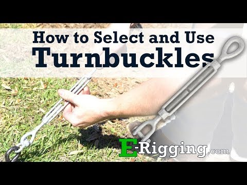 How to Select and Use Turnbuckles