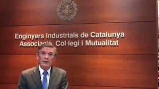 Josep Canós, nou degà del Col·legi d'Enginyers Industrials de Catalunya