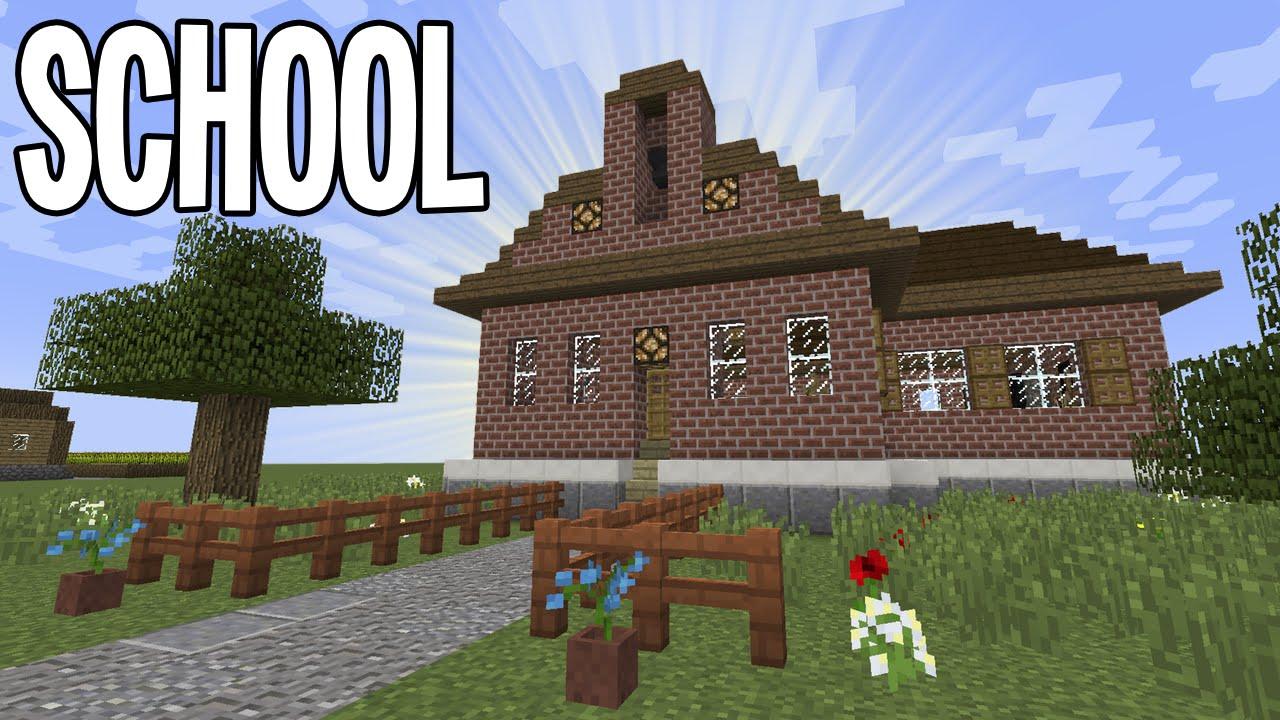 Minecraft Tutorial - School - YouTube