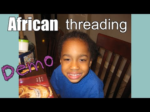 African Threading: With a little practice...