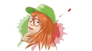 How To Draw Vector Painting a Girls - Illustrator Tutorials