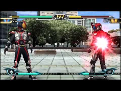 Kamen Rider Climax Heroes OOO(PSP) - Kabuto VS Faiz