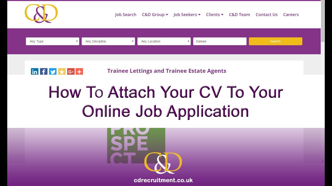 how to do your cv online