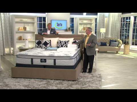 "Serta Perfect Sleeper Elite Vibrancy CK 13"" Pillow Top Mattress Set with Rick Domeier"
