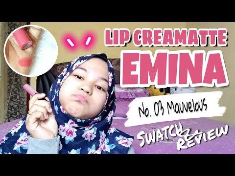 swatch-&-review-emina-creamatte-(lipcream-emina-no.-03-mauvelous)-natural-banget...