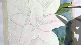 How to paint a beautiful yellow flower 1 / Como pintar una bella flor amarilla 1.